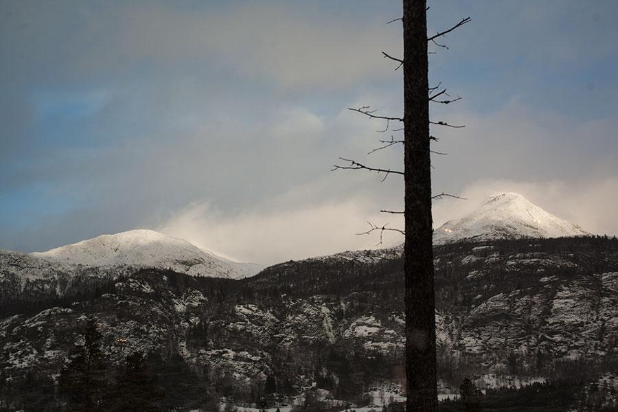 97c0703a Utsikten fra hytta er så fin, med fjell på begge sider og gåavstand til  alpinbakken.